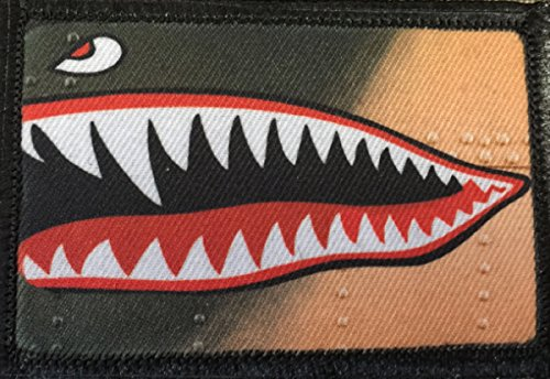 WWII P40 Warhawk Fighter Morale Patch. Perfect for your Tactical Military Army Gear, Backpack, Operator Baseball Cap, Plate Carrier or Vest. 2x3