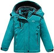 Wantdo Girl's Hooded Ski Fleece Jacket Waterproof Raincoats Out