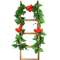 Artificial Plants - 5 Strings Artificial Vine Decorative Fruits Vegetables Fake Plant Decor - Rubber Potted Clearance Bathroom Reptile Home Party Large Like Assorted Greenery Exterior Backdrop