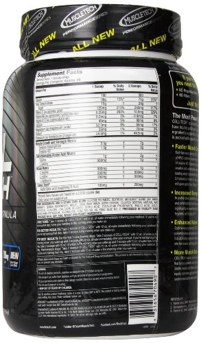 MuscleTech Cell Tech, Hardgainer Creatine Formula, Blackberry, 3.09 lbs (1.4kg)