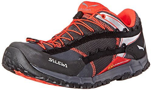 SALEWA Ms Speed Ascent, Zapatillas de Deporte Exterior para Hombre Negro / Rojo   (Carbon / Flame 0794)