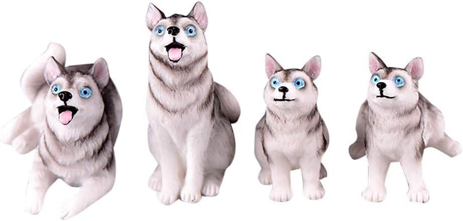 ToDIDAF Puppenhaus Zubeh/ör 4 St/ück Mini Welpe 1:12 Puppenhaus Miniatur Wohnm/öbel F/ür Zuhause Garten Dekoration 3,3 x 5,6 cm Szenenmodell Lernspielzeug f/ür Kinder