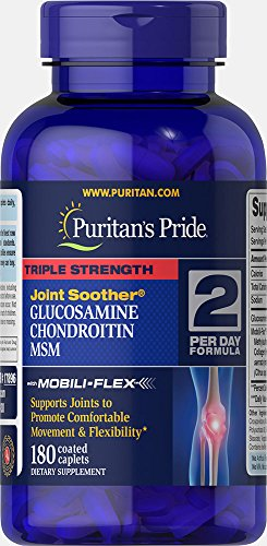 Puritans Pride Triple Strength Glucosamine, Chondroitin and Msm Joint Soother, 180 ()