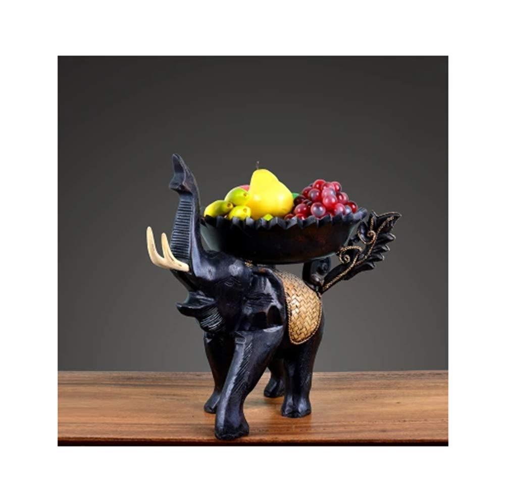 WYQSZ フルーツバスク東南アジアフルーツプレート手彫りフルーツ皿レトロフルーツトレイドライフルーツコンポート - 5341 フルーツバスケット   B07RL67CL4