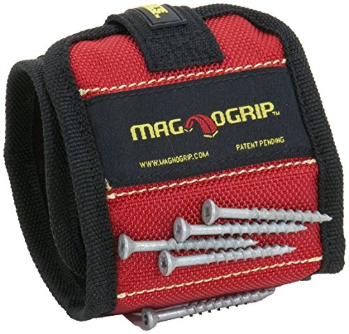 MagnoGrip 311-090 2 Pack Magnetic Wristband, Red (Therapeutic Craft Glove)