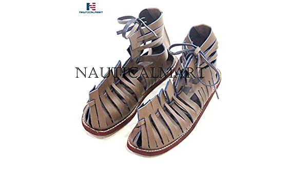 d374f0814d29 Amazon.com  NAUTICALMART Medieval Roman Leather Caligae Viking Sandals ABS  Size - 12 inches  Sports   Outdoors