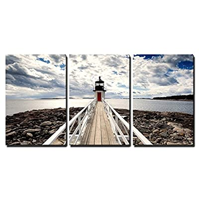 Made With Love, Handsome Design, Lighthouse in Perspective Wall Decor x3 Panels