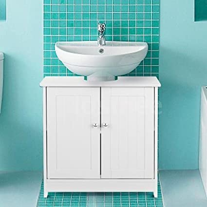 Amazon White Pedestal Under Sink Bathroom Storage Cabinet