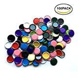 used beer caps - HAWORTHS 100 PCS Flat Decorative Bottle CaP Craft Bottle Stickers Double Sideds Printed for Hair Bows, DIY Pendants or Craft ScraPbooks Mixed Colors(10colors)