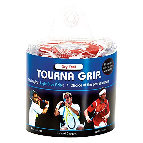 Tourna Grip, Original Dry Feel Tennis Grip (30 Grips) in a Vinyl Pouch
