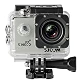 SJCAM SJ4000 WIFI Action Camera FHD 1080P H.264 12MP 170 Degree Wide Angle Lens DV with Waterproof Case and Accessories for Diving Driving Biking SILVER Action Cameras SJCAM