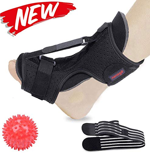 Plantar Fasciitis Night Splint Foot Drop Orthotic Brace, Adjustable Elastic Dorsal Night Splint for Plantar Fasciitis, Orthotic Brace Sleep Support Pain Relief from Foot Drop, Tendonitis, Heel, Arch