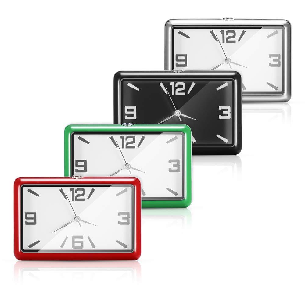 Schwarz Winbang Auto Armaturenbrett Uhr Auto Uhren Quarzuhr Sch/öne Auto Dekoration Uhr Ornamente Mini Stick-On Style
