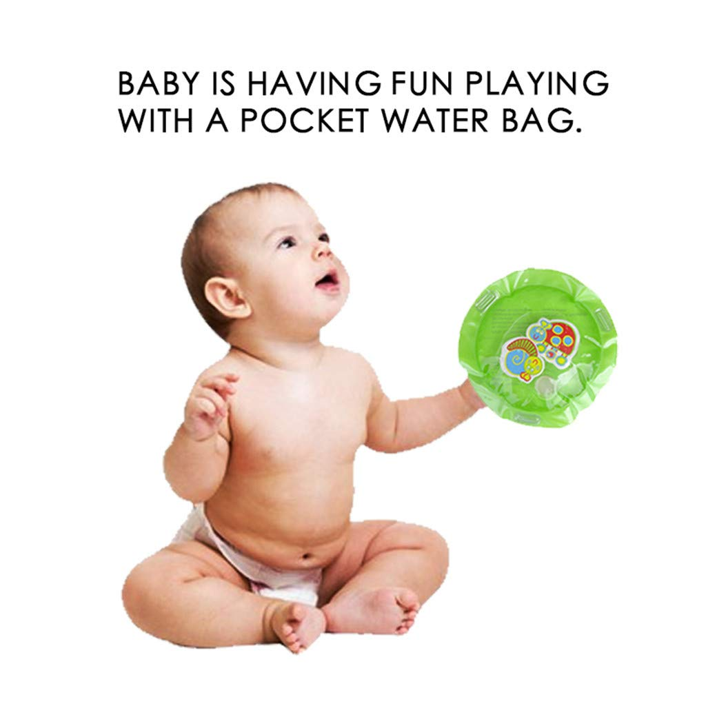 Tpingfe Inflatable Baby Water Mat Fun Activity Play Center for Children & Infants