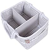 Dove Gray Chevron Zig Zag Nursery Diaper Storage