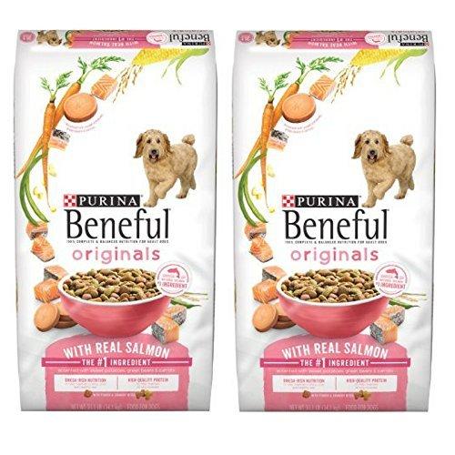 Purina Beneful Originals with Real Salmon Adult Dry Dog Food - 31.1 lb. - 2 Bag (Healthy Food Radiance Dog)