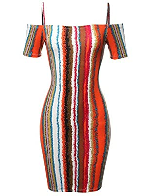 Made by Emma Women's Solid Or Patterned Off-Shoulder Crepe Tube Midi Dress