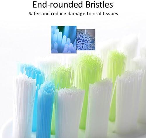 MitButy Têtes de Brosse à Dents Electrique pour Philips Sonicare ProResults– Lot de 8 Brossettes de Remplacement pour Tête Amovible DiamondClean, HealthyWhite, FlexCarePlatinum, EasyClean etc