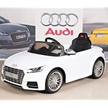Audi TTs 12V Kids Ride On Battery Powered Wheels Car + RC Remote - White