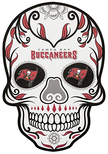 Applied Icon NFL Tampa Bay Buccaneers Outdoor Small Dia De Los Muertos Skull Decal