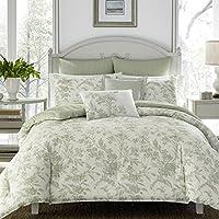 Laura Ashley Natalie Bonus Comforter Set, Full/Queen, Sage Green