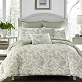 Extra Large Comforter Sets Laura Ashley Natalie Bonus Comforter Set, King, Soft Green