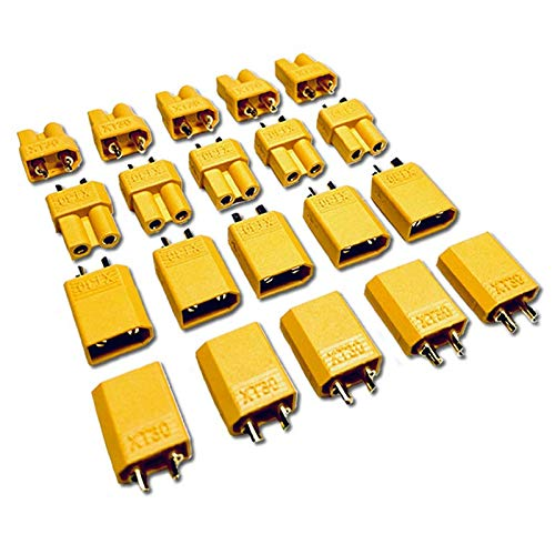 Buchse vergoldet Nylon XT30 Hochstrom Stecker Goldstecker 20 Stück 10 Paar
