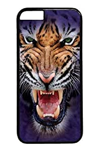 Growling Big Face Tiger PC Case Cover For LG G3 Black