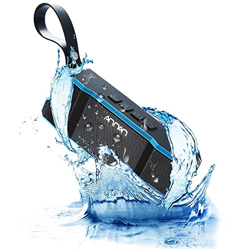 Portable Bluetooth Speakers 4.0, Annan Wireless Waterproof Stereo with Dual-Driver, 33-Foot Bluetooth Range & Built-in Mic, 12-Hour Playtime, Crystal Sound, Premium Bass for Outdoor & Indoor(Blue)