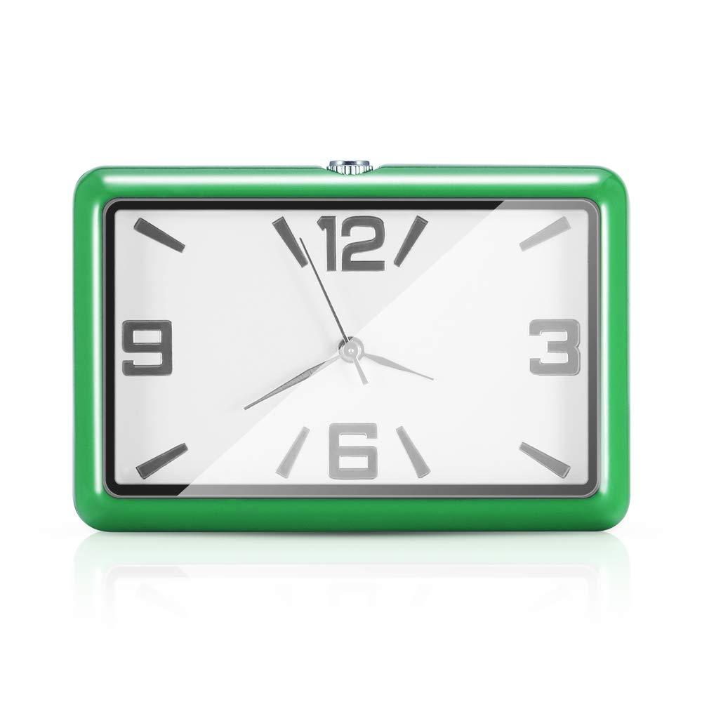 hohe Genauigkeit kleine Auto Uhr Uhr Auto Ornamente Quarzuhr f/ür Auto nach Hause Gr/ün OurLeeme Auto Uhr