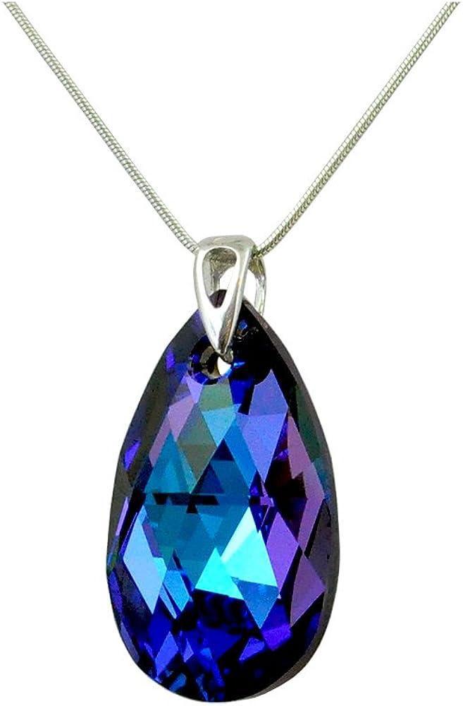 Crystals & Stones - *Heliotropo* *Almendra*, 28 mm Swarovski Elements, hermoso collar para mujer, colgante con joya, regalo con cristales de Swarovski