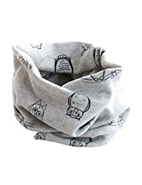 Changeshopping Autumn Winter Boys Girls Collar Baby Scarf Cotton O Ring Neck Scarves (Gray 2)