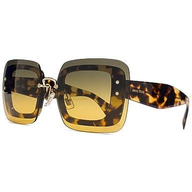MIU MIU Reverse-Objektiv Square Sonnenbrillen in leichten Havanna MU 02RS 7S00A3 67 67 Orange Green Gradient hKwYD