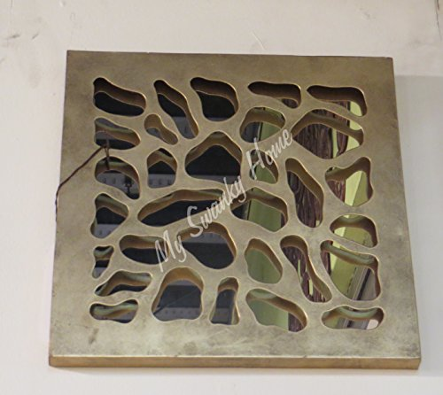 Leopard Wall Square   Metal Mirrored Plaque (Leopard Grille)