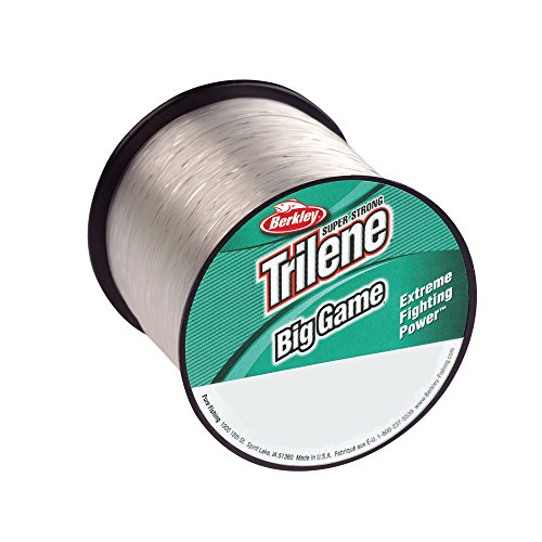 Berkley Trilene Big Game Monofilament Custom Spool, Clear, 30 Pound