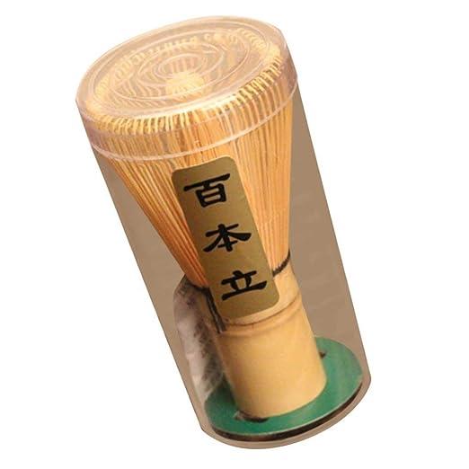 Kit de Ceremonia de Te REFURBISHHOUSE Juego de Te Matcha Japones 3 Pzs - Batidor de Bambu de Matcha Cuchara de Te