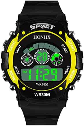 Digital Watch for Men, DYTA Sport Watches 5 ATM Waterproof Outdoor LED Watch Military Wrist Watch with Rubber Strap Analog Quartz Casual Watch with Alarm Relojes De Hombre Gifts for Men Dad