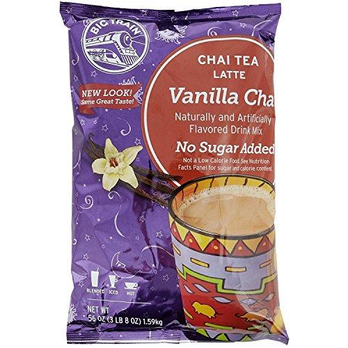 Big Train No Sugar Add Vanilla Chai Latte, Two 3.5lb. Bags + Measuring Scoop
