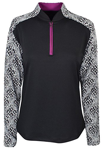 Maggie Lane Golf Ladies Colorblock Half-Zip Pullover (Colorblock Golf)