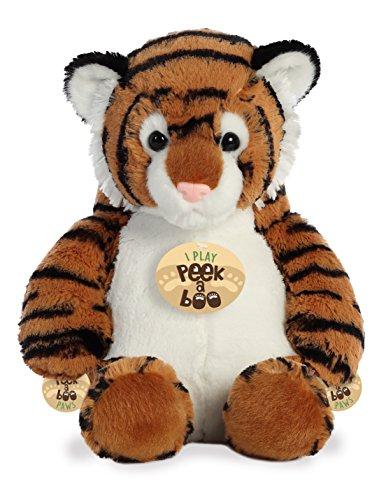 Aurora Peek A Boo- Tiger Plush, Brown