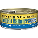Natural Balance L.I.D. Limited Ingredient Diets Wet Cat Food, Duck & Green Pea Formula, 5.5-Ounce Can (Pack of 24)