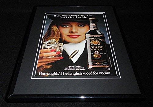 - 1983 Burrough's English Vodka 11x14 Framed ORIGINAL Advertisement