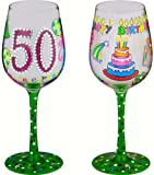 50 Better Then Ever-Bottom's Up Wine Glass