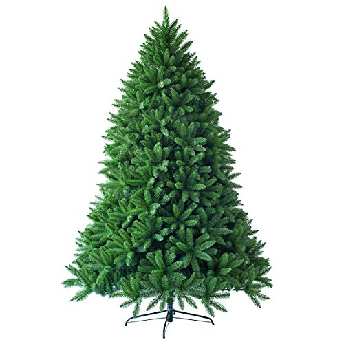 Goplus 5ft Unlit Artificial Christmas Tree, Premium Hinged Fir Tree, Easy Assembly with Metal Stand, Xmas Dcor for Indoor and Outdoor (5ft)