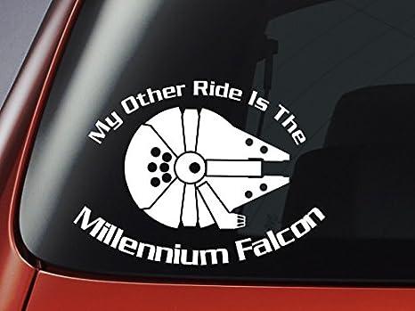 Star Wars My Other Ride Is The Millennium Falcon Vinyl Decal Car Window Wall Laptop Sticker By Level 33 Ltd Küche Haushalt