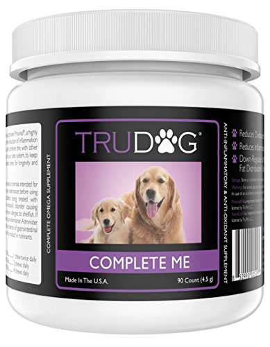 The First Omega-7 Supplement for Dogs - Complete Me: Omega Multi-Vitamin Soft Chew (90 Count) - Complete All-In-One Fish Oil Chews to Support Immune System, Joint and Muscle Recovery, and Cardiovascular (Grain 250 Softgels)