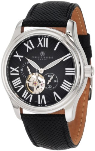 (Charles-Hubert, Paris Men's 3894-B Premium Collection Stainless Steel Automatic Watch)
