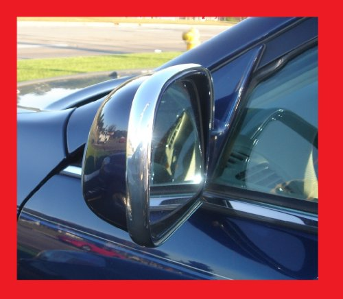 (1997-1998 OLDS OLDSMOBILE REGENCY CHROME SIDE MIRROR TRIM MOLDINS 2PC 97 98)