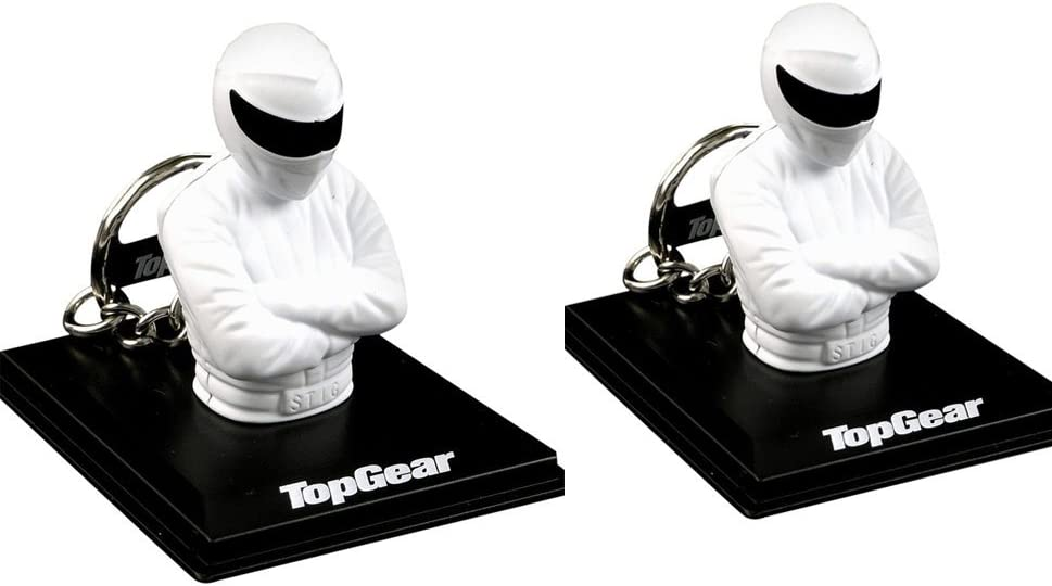 Top Gear 2x Two Official Stig keyring Licensed Product by eshop7