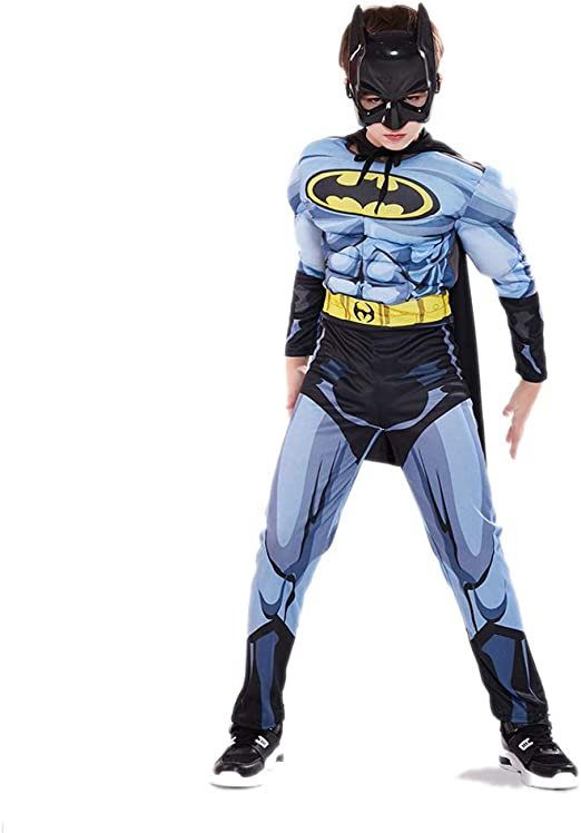 YXRL Niños Batman Cosplay Disfraces Musculares Niños Mono ...